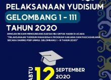 Pelaksanaan Yudisium 2020